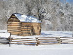 LaRue County in the snow