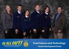 "<div class=""source"">Submitted</div><div class=""image-desc"">LaRue's FFA team in Food Science and Technology: From left, FFA sponsor Misty Bivens and FFA members Hunter Thomas, Morgan Durham, Forrest Durham and Chloe Owen. At right is a representative of Kraft Foods, sponsor of the Food Science contest. </div><div class=""buy-pic""><a href=""/photo_select/38679"">Buy this photo</a></div>"