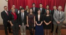 "<div class=""source""></div><div class=""image-desc"">WKU honored 10 students from LaRue County High School. Front row (from left): counselor Kristi Wright, Isaiah Turner, Hayley Dragoo, Evelyn Whelan, Courtney Johnson, superintendent Sam Sanders; back row: WKU President Gary Ransdell, principal Kyle Goodlett, Devan Moore, Hope Farrar, Joseph Gearon, Kyler Hart, Melika Menard, Ezekiel Phelps. (WKU photo by Bryan Lemon)</div><div class=""buy-pic""><a href=""/photo_select/31720"">Buy this photo</a></div>"