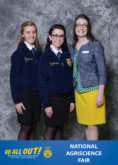 "<div class=""source"">Submitted</div><div class=""image-desc"">From left, FFA members Lindsey Shelton and Christine Shive are shown with John Deere sponsor representative Kira Sisson at the National FFA Convention. </div><div class=""buy-pic""><a href=""/photo_select/38681"">Buy this photo</a></div>"