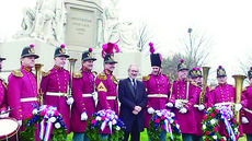 """<div class=""""source""""></div><div class=""""image-desc"""">Dr. Reese Land, fourth from left, associate professor of music/trumpet at Campbellsville University, was in the new Steven Spielberg film """"Lincoln."""" He got to meet Spielberg at the 149th anniversary of Lincoln's Gettysburg address at Gettysburg, Penn. Nov. 19.</div><div class=""""buy-pic""""></div>"""