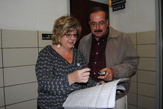"""<div class=""""source"""">Candis Carpenter</div><div class=""""image-desc"""">Mayor Terry Cruse looks over the ballot while talking with Allison Shepherd, General Manager of the Herald News. Terry beat out opposing candidate Rita Williams to keep his seat as Hodgenville Mayor. </div><div class=""""buy-pic""""><a href=""""/photo_select/1657"""">Buy this photo</a></div>"""