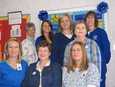 """<div class=""""source""""></div><div class=""""image-desc"""">The staff of the LaRue County Health Department participated in Dress in Blue Day March 4 for Colon Cancer Awareness Month. Front from left, Clinical Director Lisa Cox, R.N., Donna Atherton, Julie Percefull, R.N.; middle, Frances Kilgore; back, Donna Grammer, Josey Crew, R.D., Diana Leathers and Tina Gawarecki, A.P.R.N.</div><div class=""""buy-pic""""></div>"""