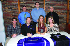 "<div class=""source"">Submitted photo</div><div class=""image-desc"">LaRue County High School senior Alisha Durbin signed to play basketball for Asbury College. Front from left, Tim Durbin, Coach Bart Flener, Alisha Durbin, Sarah Durbin; back, Coach Travis Wootton, LCHS Athletic Director David Dawson and Coach Tommy Adams. Not pictured, Coach Roy Walker and Coach Kyle Baker. </div><div class=""buy-pic""><a href=""/photo_select/27763"">Buy this photo</a></div>"