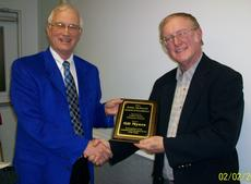 """<div class=""""source"""">Ronnie Benningfield</div><div class=""""image-desc"""">David Harrison, left, county extension agent for agriculture and natural resources, presents the 2012 Bobby McDowell Award of Excellence to Gil Myers.</div><div class=""""buy-pic""""><a href=""""/photo_select/18773"""">Buy this photo</a></div>"""