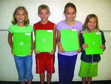 """<div class=""""source"""">Submitted photo</div><div class=""""image-desc"""">Hodgenville Elementary School 4-H officers for fourth grade (Puckett/Thomas) are president, Grace Ramey; vice president, Chandler McLaughlin; secretary, Savannah Bandurske; and reporter, Abby Simon.  </div><div class=""""buy-pic""""><a href=""""/photo_select/17740"""">Buy this photo</a></div>"""