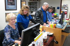 """<div class=""""source"""">Ron Benningfield</div><div class=""""image-desc"""">Hodgenville Elementary School staff, from left, Millie Underwood, Connie Gowen, David Walters and Patty Chaudoin work together in preparation for kindergarten registration.</div><div class=""""buy-pic""""><a href=""""http://web2.lcni5.com/cgi-bin/c2newbuyphoto.cgi?pub=029&orig=HES%2Boffice%2Bstaff%2Bpreparing%2Bfor%2Bkindergarten%2Bregistration.jpg"""" target=""""_new"""">Buy this photo</a></div>"""