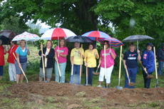 "<div class=""source"">Linda Ireland</div><div class=""image-desc"">Sunrise Manor Nursing Home employees braved a downpour and a rainy field to attend Wednesday's groundbreaking ceremony for the new nursing home.</div><div class=""buy-pic""><a href=""/photo_select/7400"">Buy this photo</a></div>"
