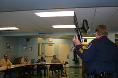 """<div class=""""source"""">Linda Ireland</div><div class=""""image-desc"""">Hodgenville Police Chief showed off the department's new pepper ball gun at the Feb. 13 City Council meeting. The gun fires an irritant where physical proximity to a suspect is deemed dangerous but deadly force is not warranted. The gun was a gift from Elizabethtown City Police.</div><div class=""""buy-pic""""><a href=""""http://web2.lcni5.com/cgi-bin/c2newbuyphoto.cgi?pub=029&orig=IMG_2361.JPG"""" target=""""_new"""">Buy this photo</a></div>"""