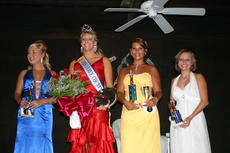 "<div class=""source"">Linda Ireland</div><div class=""image-desc"">Tessie Jo Embry, second from left, was crowned Miss LaRue County Fair and Miss Congeniality Monday night. From left, Tiffany Underwood, second runner-up; Embry; first runner-up and Most Photogenic Cassie Danielle Bright; and third runner-up Audrey-Anna Sk</div><div class=""buy-pic""><a href=""/photo_select/810"">Buy this photo</a></div>"
