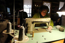 """<div class=""""source""""></div><div class=""""image-desc"""">Justine Dennis, of New Haven, is a fiber artist who created her own technique of sewing that she calls Torsion Sewing.</div><div class=""""buy-pic""""><a href=""""/photo_select/25429"""">Buy this photo</a></div>"""
