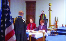 """<div class=""""source"""">Submitted photo</div><div class=""""image-desc"""">Lincoln Chapter 3 of DeMolay initiated two new members as Eric Martinez, 13, and Jesse Gehr, 12, from left, took their obligation.</div><div class=""""buy-pic""""></div>"""