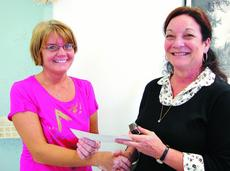 """<div class=""""source""""></div><div class=""""image-desc"""">Mary Rose Thompson, left, received her 5-year service award from Sunrise Manor Nursing Home administrator Daphne Loyall in September.</div><div class=""""buy-pic""""><a href=""""/photo_select/12131"""">Buy this photo</a></div>"""