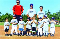 "<div class=""source""></div><div class=""image-desc"">The LaRue County Wiener League gray team players are front from left, Katherine Nall, Cutter Boley, Jayden Lynch, Samantha Perkins, Ryan Brooke Puckett, Camrin Williams, Tanner Lasley and Grayson White; back, coaches Scott Boley, Charles Nall and Ashley P</div><div class=""buy-pic""><a href=""/photo_select/10722"">Buy this photo</a></div>"