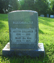 """<div class=""""source"""">Photo by Linda Ireland</div><div class=""""image-desc"""">Austin Gollaher, credited with saving young Abraham Lincoln from drowning, is buried in Pleasant Grove Baptist Church Cemetery</div><div class=""""buy-pic""""><a href=""""/photo_select/30435"""">Buy this photo</a></div>"""