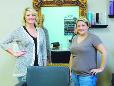"""<div class=""""source"""">Vannesa Hurst</div><div class=""""image-desc"""">Ashley England and Erin Huff in the Beauty Bar salon at 107 South Walters Avenue in Hodgenville.</div><div class=""""buy-pic""""><a href=""""/photo_select/43673"""">Buy this photo</a></div>"""