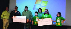 """<div class=""""source""""></div><div class=""""image-desc"""">Caleb Ragland, third from left, won $5,000 to be divided between LaRue County 4-H and Magnolia Fire Department.</div><div class=""""buy-pic""""><a href=""""/photo_select/26349"""">Buy this photo</a></div>"""