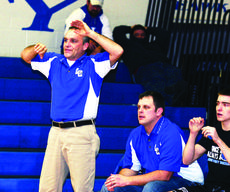 """<div class=""""source"""">Linda Ireland</div><div class=""""image-desc"""">LaRue County Mat Coach Gary Canter signals to a wrestler during the Jan. 30 meet with Oldham County. Assistant Coach Elijah Zwiep is at right.</div><div class=""""buy-pic""""><a href=""""http://web2.lcni5.com/cgi-bin/c2newbuyphoto.cgi?pub=029&orig=canter%2Band%2Bzwiep_0.jpg"""" target=""""_new"""">Buy this photo</a></div>"""