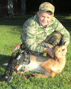 "<div class=""source""></div><div class=""image-desc"">Jared Stillwell, Hodgenville, harvested this button buck with a bow Sept. 14. He is the son of Lauren Stillwell and Jason Stillwell.</div><div class=""buy-pic""><a href=""/photo_select/31198"">Buy this photo</a></div>"