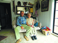 """<div class=""""source"""">Vanessa Hurst</div><div class=""""image-desc"""">Sitting on a swing in their sunroom are Bob and Nadine Jennings, owners of Cabin Fever. Cabin Fever has two cabins in Hodgenville as well as three rooms available in their house. Cabin Fever also has two cabins in Burkesville Kentucky near Dale Hollow Lake. For more information visit their website www.cabinfeverky.com or call 270-358-4415.</div><div class=""""buy-pic""""><a href=""""/photo_select/45414"""">Buy this photo</a></div>"""