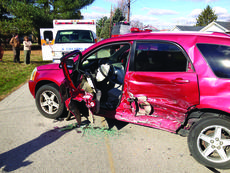 """<div class=""""source"""">Submitted photo</div><div class=""""image-desc"""">A Chevrolet Equinox, driven by Rena Butler, sustained severe damage when it was struck in the side.</div><div class=""""buy-pic""""><a href=""""http://web2.lcni5.com/cgi-bin/c2newbuyphoto.cgi?pub=029&orig=ferrill_hill_wreck.jpg"""" target=""""_new"""">Buy this photo</a></div>"""