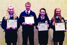 """<div class=""""source"""">submitted photo</div><div class=""""image-desc"""">Chasity Bryant, Hunter Thomas, Cristine Shive and Lindsey Shelton were Agriscience Fair State Winners </div><div class=""""buy-pic""""><a href=""""/photo_select/35677"""">Buy this photo</a></div>"""