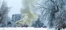 "<div class=""source"">Linda Ireland</div><div class=""image-desc"">Firefighters battled a blaze Thursday morning on East Leafdale Road outside Hodgenville. The home of Rodney and Magen Thompson was a loss, according to Buffalo Fire Chief Wendell Perkins.</div><div class=""buy-pic""><a href=""/photo_select/33304"">Buy this photo</a></div>"