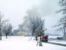"""<div class=""""source"""">Linda Ireland</div><div class=""""image-desc"""">Buffalo, LaRue County and Magnolia firefighters battled a blaze Thursday morning on East Leafdale Road outside Hodgenville. The home of Rodney and Magen Thompson was a loss, according to Buffalo Fire Chief Wendell Perkins.</div><div class=""""buy-pic""""><a href=""""http://web2.lcni5.com/cgi-bin/c2newbuyphoto.cgi?pub=029&orig=fire_truck.jpg"""" target=""""_new"""">Buy this photo</a></div>"""