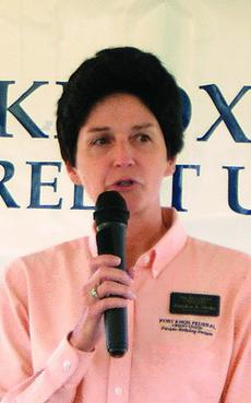 "<div class=""source"">Linda Ireland</div><div class=""image-desc"">Carolyn Drake, executive vice president for Fort Knox Federal Credit Union, spoke at the groundbreaking ceremony. </div><div class=""buy-pic""><a href=""/photo_select/8939"">Buy this photo</a></div>"