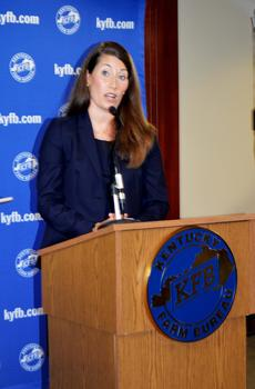 "<div class=""source"">Taylor Riley/The Oldham Era</div><div class=""image-desc"">Kentucky Secretary of State and U.S. Senate candidate Alison Lundergan Grimes speaks after the Farm Bureau forum.  Grimes is running against incumbent U.S. Senator Mitch McConnell this November.</div><div class=""buy-pic""><a href=""/photo_select/36864"">Buy this photo</a></div>"