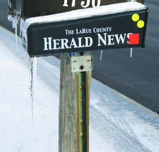 """<div class=""""source"""">Linda Ireland</div><div class=""""image-desc"""">The LaRue County Herald News experienced some difficulties reaching our customers last week due to icy road conditions. We apologize for any late deliveries.  If you experience any delays with delivery, please call us at 270-358-3118.</div><div class=""""buy-pic""""><a href=""""http://web2.lcni5.com/cgi-bin/c2newbuyphoto.cgi?pub=029&orig=herald_box.jpg"""" target=""""_new"""">Buy this photo</a></div>"""
