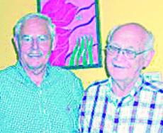 """<div class=""""source""""></div><div class=""""image-desc"""">Former Hodgenville teachers who attended the class reunion are Albin Lee, left and J. J. Flowers.</div><div class=""""buy-pic""""><a href=""""/photo_select/309"""">Buy this photo</a></div>"""