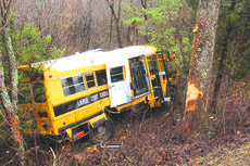 "<div class=""source""> photo by Doug Ponder</div><div class=""image-desc"">Two people were injured in an accident on Thursday, February 22 when a LaRue County School bus left the roadway and struck a tree. No students were on the bus at the time of the accident. The driver, Roger Skaggs, has been treated and released for injuries. At the time of publication, bus monitor Martha Ann Skaggs remained in the hospital where she is being treated for her injuries. </div><div class=""buy-pic""><a href=""/photo_select/57906"">Buy this photo</a></div>"
