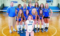 "<div class=""source"">Terry Sandidge</div><div class=""image-desc"">The members of the Lady Hawks volleyball team are front, Kristin Thompson; middle, from left, Cassady Crim, Molly Kennedy, Brea Huhn, Angelina Marcum; back, Coach Ben Schell, B.J. Sullivan, Tessie Embry, Melanie Huhn, Jessica Stanley, Emily Boone and Laur</div><div class=""buy-pic""><a href=""/photo_select/533"">Buy this photo</a></div>"