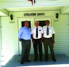 """<div class=""""source"""">Photo by John Smith</div><div class=""""image-desc"""">Rev. Laurence Brockman, Rev. Wallace Votaw and Larry Skaggs shared their memories of Levelwoods United Methodist Church. </div><div class=""""buy-pic""""><a href=""""/photo_select/29325"""">Buy this photo</a></div>"""