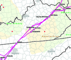 "<div class=""source""></div><div class=""image-desc"">The lines running through Campbellsville show the path of the Tennessee Gas Line. (Map is not detailed.)</div><div class=""buy-pic""><a href=""/photo_select/30038"">Buy this photo</a></div>"