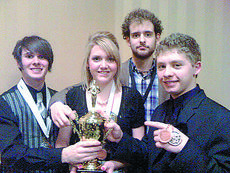 """<div class=""""source""""></div><div class=""""image-desc"""">From left, speech team members Shelby Rogers, Spenser Reed and Ian Mather have excelled in recent competitions.</div><div class=""""buy-pic""""><a href=""""/photo_select/2360"""">Buy this photo</a></div>"""
