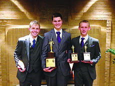 """<div class=""""source"""">Submitted photo</div><div class=""""image-desc"""">LaRue CountyHigh School Speech Team members from left, Brian Anderson, Elijah Thomas and Curtis Milby, collected numerous trophies at the Glenbrooks Speech and Debate Tournament.</div><div class=""""buy-pic""""><a href=""""/photo_select/31943"""">Buy this photo</a></div>"""