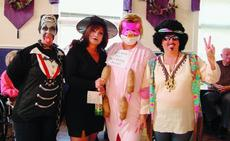 """<div class=""""source""""></div><div class=""""image-desc"""">The winners of Sunrise Manor Nursing Home's Halloween costume contest were from left, Melanie Potts, second; Daphne Loyall, second; Sonya Turner, first; and Lorrie McCoy, first.</div><div class=""""buy-pic""""><a href=""""/photo_select/12132"""">Buy this photo</a></div>"""