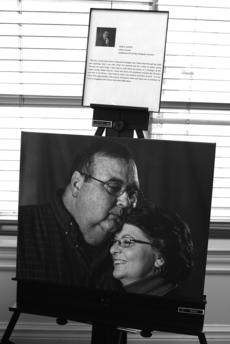"""<div class=""""source"""">Photo by Linda Ireland</div><div class=""""image-desc"""">Tom Coffey, who died Aug. 13 after a long battle with lymphoma, is featured in the Faces of Cancer exhibit, sponsored by the Kentucky Cancer Program and the Lincoln Trail District Cancer Council. The photo by Patti Longmire shows Tom and his wife, Donna. The exhibit is on rotation in Washington County.</div><div class=""""buy-pic""""><a href=""""/photo_select/30602"""">Buy this photo</a></div>"""