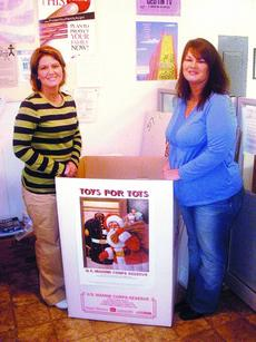 """<div class=""""source"""">Angela Rutledge</div><div class=""""image-desc"""">LaRue County Toys for Tots chairwoman Faith Miller and co-chairwoman Melissa Cottrill have placed collection boxes for new toys in several businesses.</div><div class=""""buy-pic""""><a href=""""/photo_select/7036"""">Buy this photo</a></div>"""