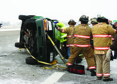 "<div class=""source"">Linda Ireland</div><div class=""image-desc"">Firefighters cut the top of a Chevrolet S-10 pickup in order to extricate 88-year-old Curtis Overly. The vehicle turned in front of a Honda van on Lincoln Parkway. </div><div class=""buy-pic""><a href=""http://web2.lcni5.com/cgi-bin/c2newbuyphoto.cgi?pub=029&orig=truck_wreck.jpg"" target=""_new"">Buy this photo</a></div>"