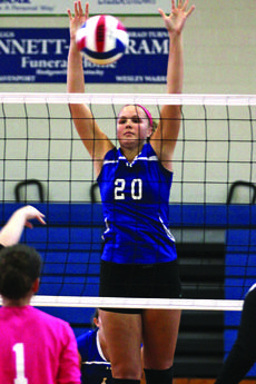 """<div class=""""source"""">Terry Sandidge</div><div class=""""image-desc"""">Senior IvyBrown led the Lady Hawks with 14 kills, two aces and six digs in the team's victory over Hart County.</div><div class=""""buy-pic""""><a href=""""/photo_select/31218"""">Buy this photo</a></div>"""