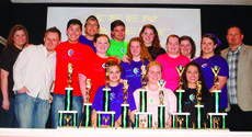 """<div class=""""source""""></div><div class=""""image-desc"""">Cutting Edge Student Ministries participants are front from left, Candyce Magill, Amber Lewis, Jacilyn Hazelwood; middle, youth leader Julie Shirley, student pastor Lloyd Smith, Josh Jones, Kaitlyn Knight, McKenzie Uhl, Ashley Grimes, Marissa Kappel, Pastor Mark Knight; back, Christ Smothers, Robert Robey, Cristen Cundiff, Hannah Maupin. Not pictured: Lexi Uhl. </div><div class=""""buy-pic""""><a href=""""/photo_select/27019"""">Buy this photo</a></div>"""