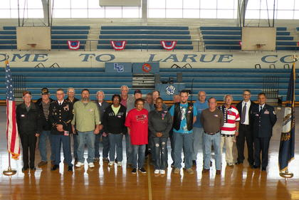 All guest veterans with their families
