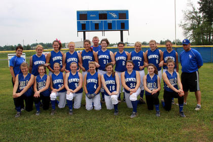 The Lady Hawks softball team