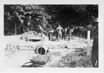 WPA workers installed a pipe culvert in LaRue County