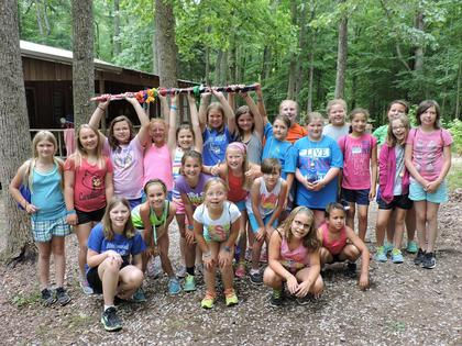 Cabin 14 with the Spirit Stick