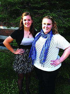 Sierra Mullins, left, and Michaela Rock attended the state 4-H Teen Conference in Lexington last week at the UK Campus. Rock was selected to participate in the 2013-14 Performing Arts Troupe.