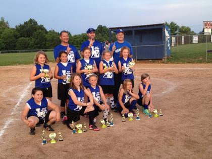 The 9U Blue Diamonds were league and tournament champs. Players are Natalie Gentry, Allie Cecil, Cammie Allen, Katherine Nall, Karlee Thomas, Emma Self, Madison Hathaway, Katie Linton, Brandi Aubrey and Lacey Anna Cecil. Coaches are Joe Allen, Charles Nall and Jon Gentry.